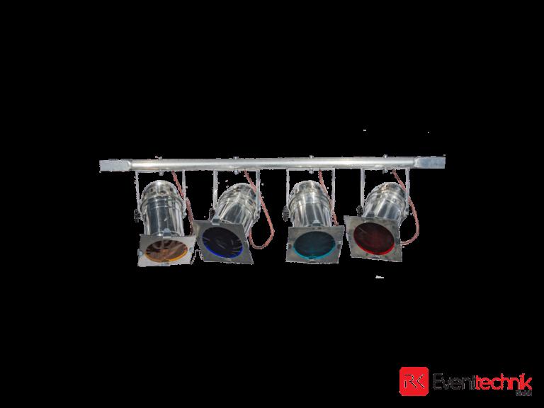 4er Bar Par 64, silber, Scheinwerfer, CP60 1000W