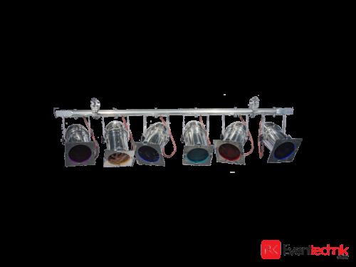 6er Bar Par 64, silber, Scheinwerfer, CP62 1000W