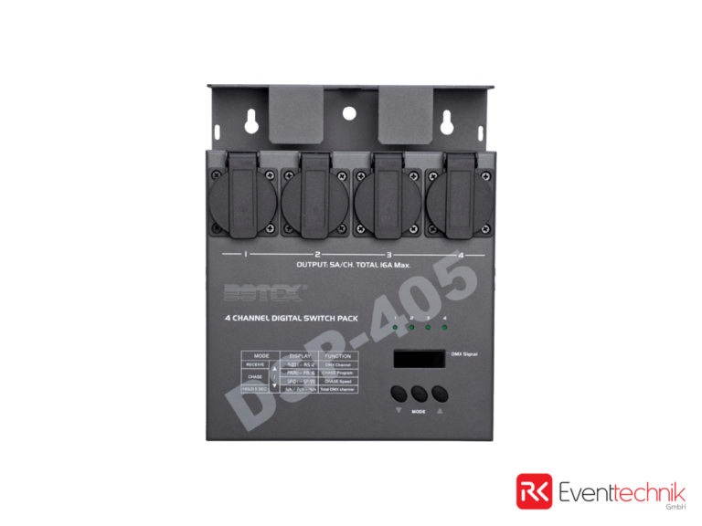 Switchpack, 4x1,2 KW, DMX, 230V 4x Schuko