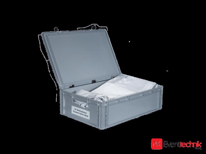 Flextent Pro 4x Seitenwände weiß 6x4m
