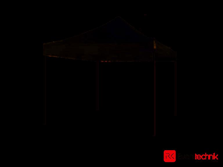 Flextent Pro Zelt schwarz 3x3 Meter