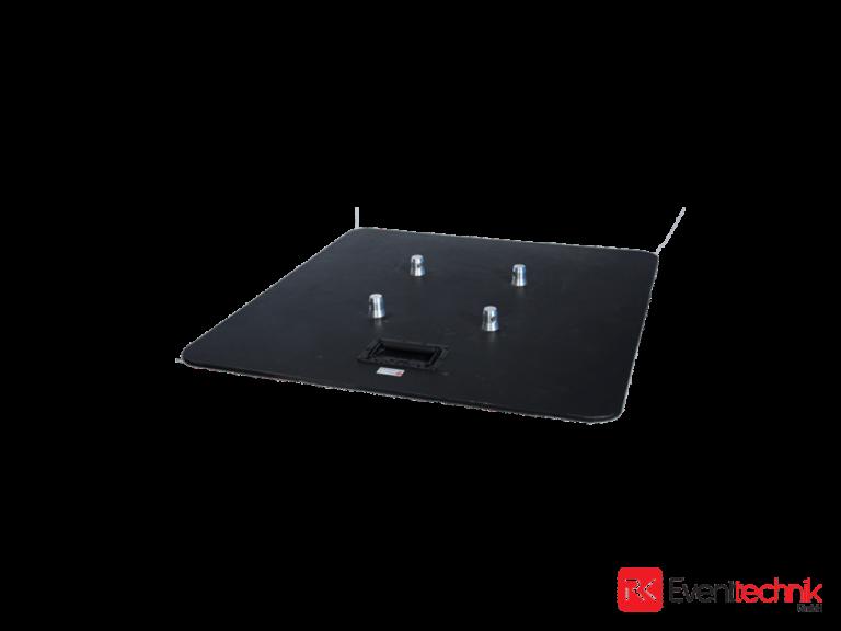 Stahlbodenplatte schwarz 800x800x8 mm für KV4